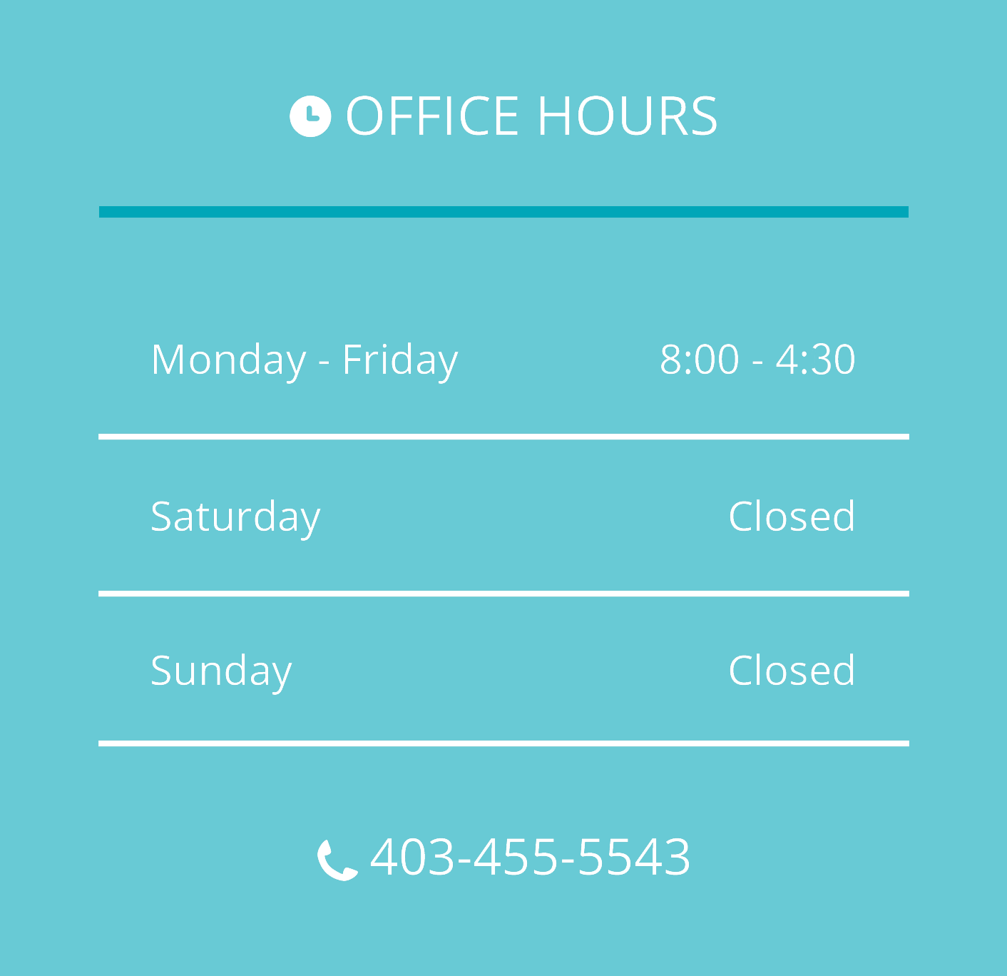 Distintive dental hours
